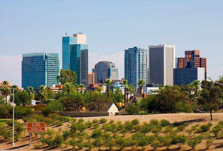 Building in downtown Phoenix, Arizona